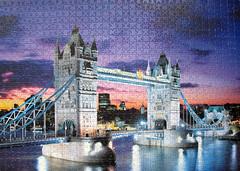 Tower Bridge - London (pefkosmad) Tags: uk bridge sunset england italy building london towerbridge evening hobby puzzle leisure jigsaw riverthames pastime 1000pieces clementoni fluorescentcollection