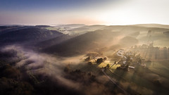 Morning Sunrise (Carsten aus MK) Tags: mist fog sunrise landscape deutschland nebel landschaft sonnenaufgang aerialphotography nordrheinwestfalen sauerland ldenscheid luftbilder landscapephotography dji versetalsperre landschaftsfotografie phantomvisionplus