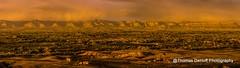 Golden Light over the Fruita Colorado valley (Thomas DeHoff) Tags: light panorama monument landscape golden colorado sony national fruita a580