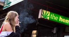 Smoke on K Road (marshall_gardiner) Tags: girl cigarette smoking auckland nz hemp