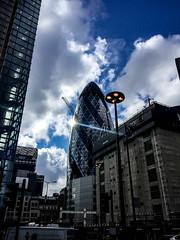 BOUNCE BACK (ZAC DES) Tags: street city blue sky cloud 6 london clouds town back photograph bounce iphone vibrance