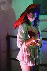 (Nowhere land ) Tags: portrait woman girl umbrella pose costume mujer chica retrato makeup posing disfraz paraguas maquillaje colourlights