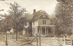 Our House Circa 1910 (ilgunmkr - Thanks for 4,000,000+ Views) Tags: fence 1910 paintedlady victorianhouse 1901 wyanetillinois bureaucountyillinois louispeterson samuelspratt laurajspratt