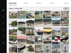 Panama Canal compilation photographs (rossendale2016) Tags: sea west men bird water boats canal workers tank gates welding flag ships traverse east container national maintenance oil manmade multiple locks panama stacked containers compilation welder staking