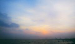 23.05.16 (Kirby_Wilson) Tags: sunset sea fog clouds evening sweden calm helsingborg resund r