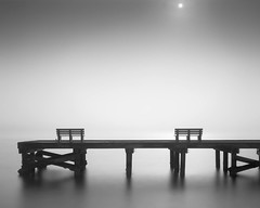 Sun Shines Through the Fog (josesuro) Tags: bw film fog sunrise stpetersburg landscapes florida fineart 4x5 format largeformat passagrille tmax100 2013 rodenstock150mmf56aposironars ebonysv45ti jaspcphotography