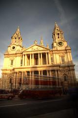 london st pauls sunset (mariusz kluzniak) Tags: uk light sunset england motion blur london st architecture europe long exposure pauls catherdral