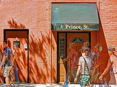 ghosts of Prince Street (albyn.davis) Tags: nyc newyorkcity color coloful bright light sunny vivid vibrant street people manipulation orange green hdr layered