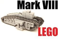 micro lego Mark VIII (mrripleyx) Tags: lego tank micro