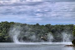 Prop Wash (RuntDog II) Tags: green army outdoor helicopter lakeoftheozarks hdr chinooks propwash runtdog