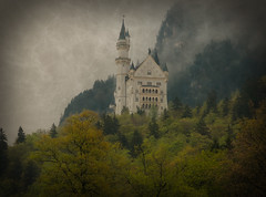Antique Neuschwanstein (louelke - home again) Tags: castle misty architecture germany bavaria antique textures schlossneuschwanstein kingludwigii