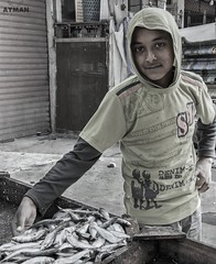 Industrious Boy l   (Ayman Abu Elhussin) Tags: street boy fish market egypt streetlife portsaid arab fisher sell seller  streetshot 2016 industrious    fisherboy            portsaidegypt        aymanabuelhussin nikon7100 industriousboy