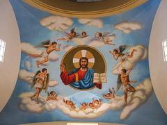 """Trujillo: l'Alpha et l'Omega, le plafond derrière l'autel de la Cathédrale <a style=""""margin-left:10px; font-size:0.8em;"""" href=""""http://www.flickr.com/photos/127723101@N04/27807037445/"""" target=""""_blank"""">@flickr</a>"""
