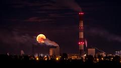 Industrial moon (zimoch84) Tags: moon paper industrial factory full ip kwidzyn