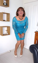 Blue Lace (Trixy Deans) Tags: sexy tv crossdressing tgirl transvestite transgendered sexylegs transsexual shemale shortskirt sexyblonde tgirls xdresser shortdress sexyheels sexytransvestite