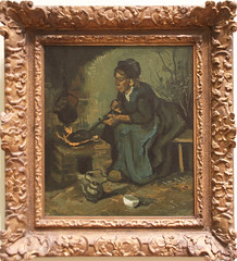 Vincent van Gogh - Peasant Woman Cooking by a Fireplace 1885 (ahisgett) Tags: new york art museum met metropolitian