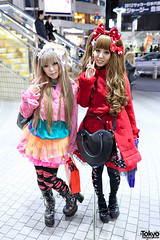 Colorful at Shibuya 109 (tokyofashion) Tags: girls cute fashion japan bag japanese tokyo heart boots style lolita bow kawaii shibuya109 tulleskirt hairbow sweetlolita angelicpretty 6dokidoki