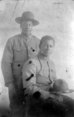 S. Augustus Aikens and friend in uniform: Cherry Lake, Florida (State Library and Archives of Florida) Tags: friends portraits florida soldiers uniforms madisoncounty unidentified blackhistorymonth cherrylake africanamericanmen statelibraryandarchivesofflorida saugustusaikens