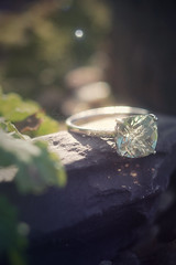35/365 (hayleylouise--) Tags: white detail macro green love nature oneaday stone diamonds silver gold engagement natural bokeh small romance ring diamond photoaday pictureaday project365 amethysist