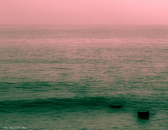 Pillars of hope (Marika II) Tags: pink sea green post ripple pillar calm swell breaker