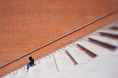 woman's space (luce_eee) Tags: woman wall lensbaby stairs space diagonal canon5dmarkii