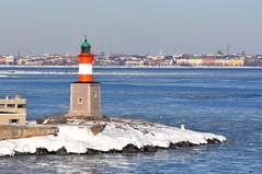 Island lighthouse in Helsinki (JohntheFinn) Tags: helsinki saaristo islands archipelago suomi finland lighthouse majakka skerry luoto islet water vesi