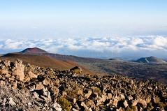 View from Mauna Kea (ChrisInAK) Tags: bigisland hawaii maunakea volcanoesnationalpark adventure clouds elevation forceofnature highaltitude hills island landscape mountain remote tropical tropics volcanic volcano wilderness