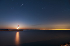 K7_10022 (Bob West) Tags: longexposure nightphotography lighthouse ontario night lakeerie greatlakes fullmoon nightshots startrails k7 erieau southwestontario bobwest pentax1224 eastlighthouseerieau