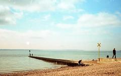 Putting The Great in Great Britain #7 (leftofnever) Tags: 35mm coast kodak hampshire retro solent 1977 olympustrip35 hillhead leeonthesolent colorplus200