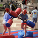 Students enjoy spring weather and Student Government's 125th Anniversary bash on the Brickyard.