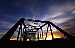 Otherside (Ph0tomas) Tags: bridge sunset sky newmexico clouds sunrise steel mygearandme mygearandmepremium