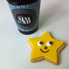 Starbiscuits and coffee