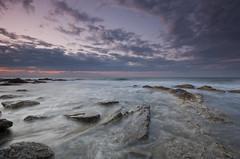 la danza del sur (bachmont) Tags: sea espaa costa water clouds landscape coast mar andaluca spain agua rocks mediterranean mediterraneo paisaje nubes cala rocas mlaga mijas