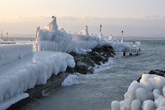 Yvoire (jomnager) Tags: vent hiver lac paysage gel froid glace yvoire meteo leman