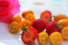 ~ (nodie26) Tags: red food fruits vegetables tangerine fruit strawberry dish greens dishes veg    vegetarianism