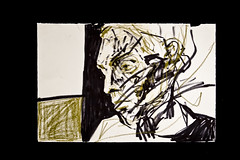 Man (Lydia Goldbeck) Tags: painting raw canvas rough sublime distressed survival figurative existential gestural selfawareness innerturmoil humanness unstretched humanexperience figurativesublime willtopresson
