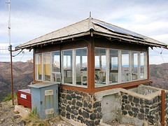 Sugarloaf Mountain Fire Lookout Cabin - Chiricahua National Monument (Al_HikesAZ) Tags: county camping arizona usa mountain tower monument look out fire cabin hiking towers conservation az lookout hike historic national corps ccc register sugarloaf cochise civilian chiricahua sugarloafmountain civilianconservationcorps cochisecounty chiricahuanationalmonument firelookoutcabin firelookouttower azhike alhikesaz nationalhistoriclookoutregister