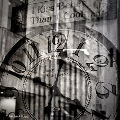 "March 30 : Project Flickr Week 13  ""Window Reflection"" (bawbwa) Tags: bw reflection art monochrome time greyscale projectflickr wowiekazowie barbaraheide"