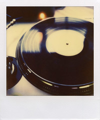 analog (davebias) Tags: film polaroid sx70 dj vinyl turntable record impossible px70 solidsound2011