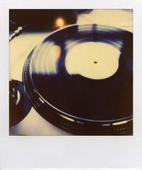 analog (davebias) Tags: film polaroid sx70 dj vinyl turntable record impossible px70 solidsound2011
