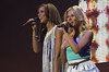 Mollie King and Rochelle Wiseman of The Saturdays The Girl Guides Big Gig 2012 - Performances Birmingham, England