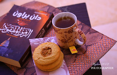 .. (  | WIJDAN Abdulaziz) Tags: light white dan cup cookies canon lens book natural tea steel mm 50 d5  broen   abdulaziz      wijdan