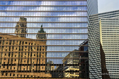 Moody's Reflections (Joel Raskin) Tags: nyc newyorkcity glass lines architecture reflections manhattan angles grids t3i 7wtc moodys fidi 600d canont3i