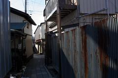 Narrow alley (nag #) Tags: road street house building japan architecture walking landscape town downtown dof bokeh faith snapshot structure goods retro  shinto oldtown item nagano jinja suwa        nakasendou