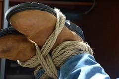 DSC_8875 (jakewolf21) Tags: work cowboy boots bondage rope sierra jeans hogtied ariat