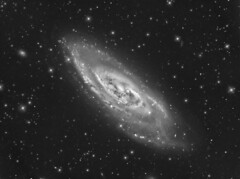 M106 (NGC 4258) luminance (Terry Hancock www.downunderobservatory.com) Tags: county camera sky color monochrome field wheel night dark stars photography mono pier backyard fotografie photos 10 space ngc shed science images off astro stephen observatory telescope filter f canes terry astronomy imaging hancock messier ccd universe cosmos technologies axis paramount luminance osc wessling teleskop astronomie byo astronomers deepsky newaygo 4258 m106 venatici guider starlightxpress flattener astrotech Astrometrydotnet:status=solved qhy5 Astrometrydotnet:version=14400 at2ff mks4000 qhy9m gt110s wwwdownunderobservatorycom f8ritcheychrtienastrographat2 Astrometrydotnet:id=alpha20120253826350
