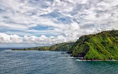 Honomanu Bay (philhaber) Tags: hawaii day cloudy maui hana honomanubay