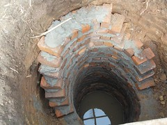 Brick lining Kikoko well
