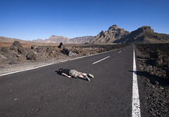 My first FDT (Paul O' Connell) Tags: road travel people selfportrait canon fun photography spain highway funny alone humor surface humour minimal mischief bizarre facedown middleofroad onemanonly pauloconnell irishphotographer