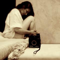 Tauro junior (Marie Casabonne) Tags: camera woman texture textura mujer bokeh quality vision 100 cmara tauro malinconiamelancholy oracope